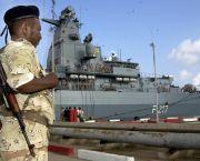 Fregatte Bayern im Hafen von Djibouti