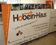 Baustellenschild für Hobein-Haus