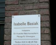 Praxisschild (Acrylglas) für Isabelle Basiak