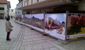 Werbeplanen als Bauzaunwerbung