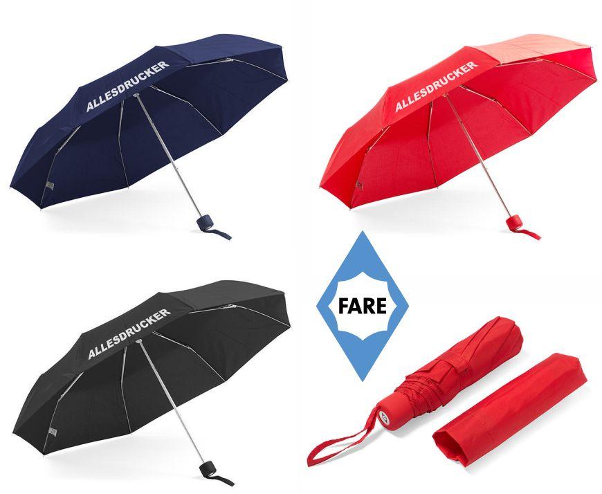 Regenschirme in drei Farben