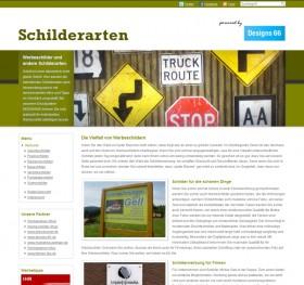 Screenshot der www.schilderarten.de
